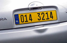 Reflective license plate sheeting.